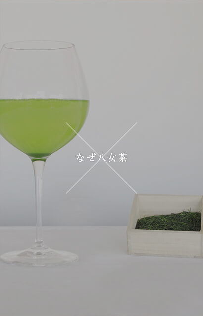 """福岡の八女茶。ワインのように八女茶を嗜む。フランス料理をたのしむ際に自然と寄り添う1杯のワイン。昼夜を問わず食卓に並び、ワインを飲むことが当然の食文化の中で発展したフランス料理だからこそ、食事の際にワインが飲みたくなるのは自然なことなのかもしれません。ここ福岡には日本一であり世界一とも言える""""八女茶""""があります。わたしたちのシンボルである""""糸島野菜""""があります。福岡でフランス料理に携わる料理人が夢中になる食材です。日本茶に慣れ親しんだわたしたちにとって、八女茶とフランス料理は「新しさの中にも風情を感じる」組み合わせではないでしょうか。福岡で食べるフランス料理の極みを感じていただけますように。"""