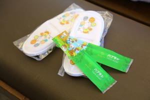 アメニティ3子供用スリッパ&歯ブラシ