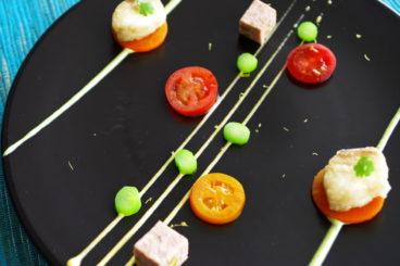 ベルヴュランチ|全7品・春のフルコース 糸島の春野菜とオードヴルの盛り合わせ ※2皿構成