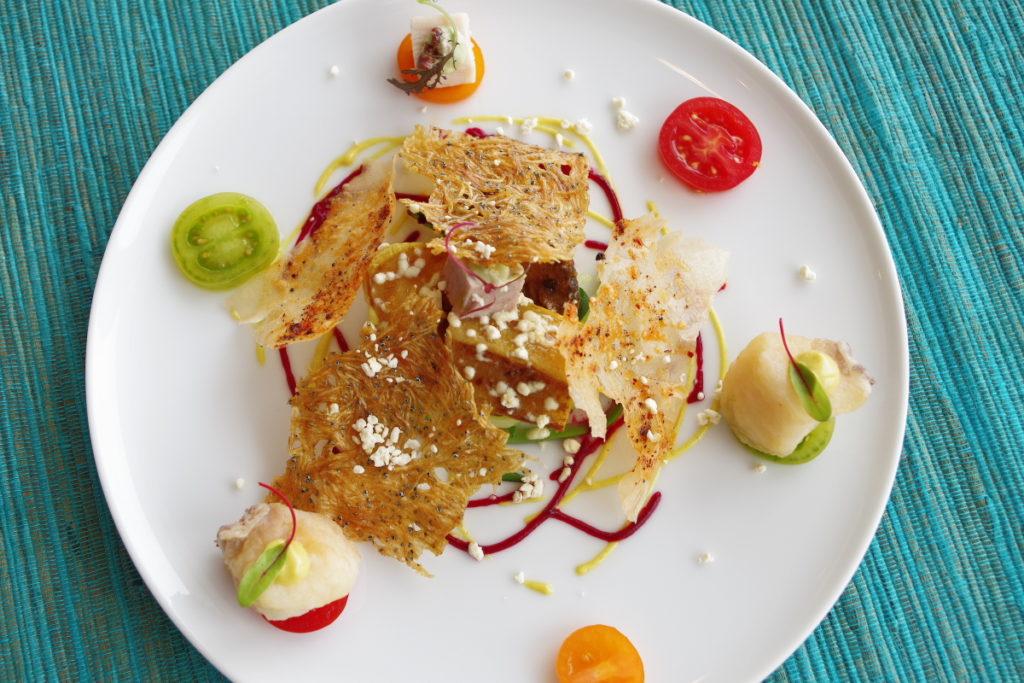 ムニュ ベルヴュ 糸島の夏野菜 オードブルの盛り合わせ