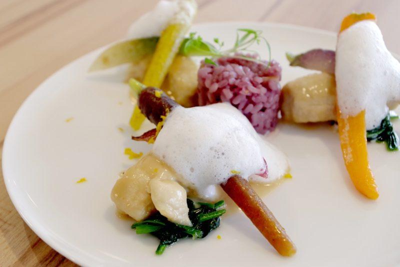 プレジールランチ(冬コース・全6品) はかた地鶏 糸島野菜と一緒にユズ香るフリカッセに