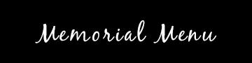 Memorial Menu メモリアル